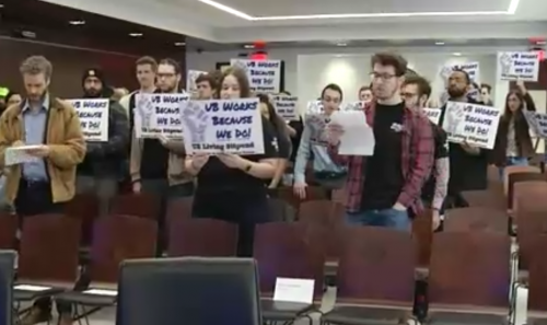 UB Teaching Assistants Rally for a Living Wage